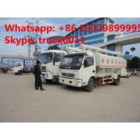 China best price 6tons hydraulic discharging poultry feed truck for sale, 5-7tons farm-oriented and livestock feed truck