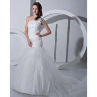 Buy cheap Fashion white drop waist Bra Wedding Dresses tulle Princess Wedding Gowns from wholesalers
