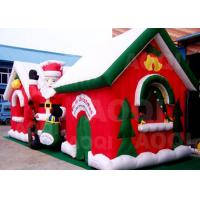 Buy cheap Cuatomized Merry Christmas Inflatable Santa Claus Bouncy Castle For Xmas Decoration from wholesalers