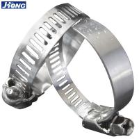 Buy cheap American / German Type Stainless Steel Hose Clamps Pipe Metal Tie Higher Torque from wholesalers