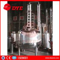Buy cheap 100 Gallons Steam Heated Vodka Still Distillation Column With Bubble Plates from wholesalers