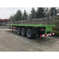 Buy cheap 13T Loading Capacity Howo Flatbed Semi Trailer With Air Suspension from wholesalers