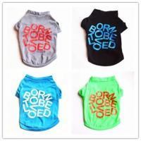 Buy cheap new pet supply small dogs apparel clothing, cotton dog Tshirt, dog product from wholesalers