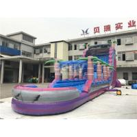 Buy cheap Purple Adult Kids Inflatable Water Slides With Pool , Slip n Slide from wholesalers
