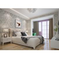 Buy cheap Embossed Victorian Damask Wallpaper , Creamy white Living Room Wallpaper CE Listed from wholesalers
