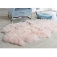 Buy cheap Pink Curly Hair Extra Large Sheepskin Rug Comfortable Anti Shrink For Home Floor from wholesalers