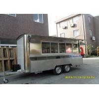 Buy cheap Stainless Steel Commercial Food TrailersWith Sliding Glass Window And Canopy from wholesalers