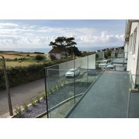 Buy cheap Aluminum Deck Railing Outdoor U Channel Glass Balcony Railing Design from wholesalers