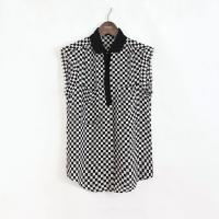 Buy cheap Casual Womens Shirts Blouses , 100% silk,checkerboard pattern from wholesalers