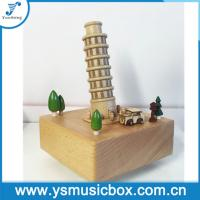 Buy cheap Souvenir The Leaning Tower of Pisa Gift Music Boxes, Mechanical Music Box Wooden Musical B from wholesalers