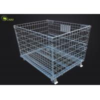 Buy cheap Logistics Turnover Box Collapsible Storage Shelves Wire Mesh Metal Pallet Cage from wholesalers