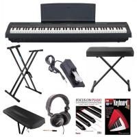 Buy cheap Yamaha P-125B 88-Key Weighted Action (GHS) Digital Piano (Black) Bundle with Knox Double X Stand Knox Wide Bench Sustain from wholesalers
