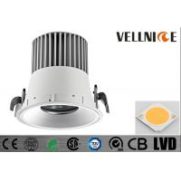 Buy cheap White / Silver Texture Aluminum Die Cast Fixture Housing Citizen Cob Round LED Downlight from wholesalers