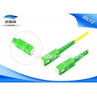 Buy cheap FTTH Fiber Optic Cable Patch Cord , SC APC  SM 1m 3m 5m Patch Cord Fiber Optic from wholesalers