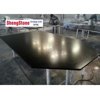 Buy cheap Special Shape Epoxy Resin Worktop Surface Smooth For Laboratory , Black Color product
