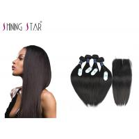 Buy cheap 100 Brazilian Unprocessed Remy Hair Extensions No Animal And Synthetic Mixed product