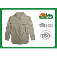 Buy cheap Layo Moisture Wicking Work Shirts , Quick Dry Cotton T Shirts Solid Color from wholesalers
