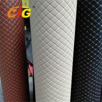 Buy cheap Anti Mildew Artificial Embroidery PU PVC Leather With Foam Bonded product