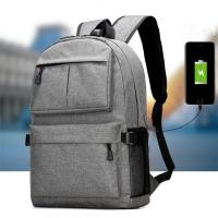 Waterproof Oxford Men'S College Backpacks For Laptop  USB Charging Interface