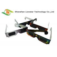 Buy cheap Colorful Printing Paper Passive 3D Glasses Solar Eclipse Glasses Custom Brand Logo from wholesalers