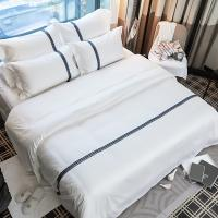 Buy cheap ECO-friendly linen Wholesale Bed Sheet for Star Hotel 100% Cotton Linen bed sheets from wholesalers