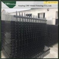 Buy cheap Black Galvanized Steel Picket Fence Gate Sunshine Resistant For Gardens / Schools from wholesalers