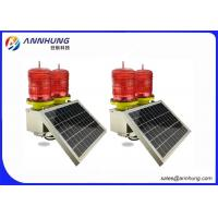 Buy cheap LED Red Flashing Solar Aviation Obstruction Light for Aircraft Warning from wholesalers