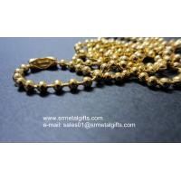 Buy cheap supply diy brass jewelry ball chains, pre-cut steel bead chains, from wholesalers