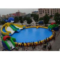 Buy cheap Outdoor PVC Inflatable Water Park OEM Customized With Pool Water Slide from wholesalers