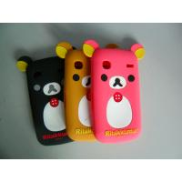 Buy cheap Black / Red / Brown Komatsu Bear Shape Cell Phone Silicone Case With Embossed Logo product