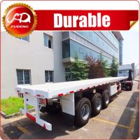 Buy cheap Cheap 3 axle 40ft or 20ft used trailer container flatbed truck trailer and semi trailer container for sale from wholesalers