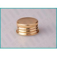 Buy cheap 24mm Shiny Gold Screw Top Caps For Classical Pharmaceutical / Medicine Bottles from wholesalers