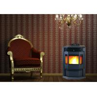 High Heat Output Indoor Pellet Stove With Smart Control Steel Coating Material