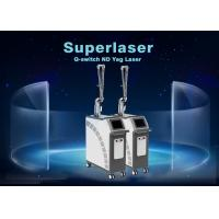 Buy cheap 1064nm / 532nm / 1320nm Q Switch Nd Yag Laser / Tattoo Pigmentation Removal Machine from wholesalers