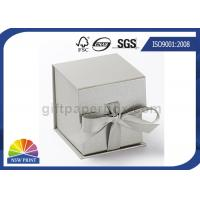 Buy cheap Logo Printed Jewelry Gift Box with Ribbon Closure , Rigid Cardboard Paper Gift Box from wholesalers