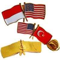 Buy cheap Promotional metal flag badge from wholesalers