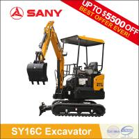Buy cheap SANY SY16C 1.6 ton Hydraulic Garden Digging Mini Excavator Bagger Machine for Sale from wholesalers