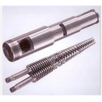 Buy cheap Durable PVC Plastic Extruder Spare Parts , Bimetallic Screw Barrel 0.015mm Straight from wholesalers