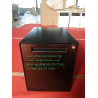 Buy cheap Pedestal file cabinet 2 drawer,one box drawer,one file drawer,black color,H490XW360XD500mm,export to USA from wholesalers