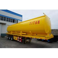 Buy cheap tri-axle fuel tanker truck trailer with four company compartment tank trailer for sale from wholesalers