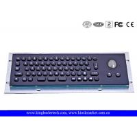Buy cheap 66 Keys Electroplated Black Small-Sized Industrial Keyboard With Trackball from wholesalers