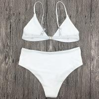 Buy cheap Wholesale and Retail 2018 Women Sexy White Floral Print Bikini Set from wholesalers