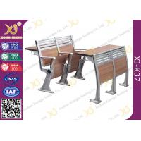 Buy cheap Aluminum College Furniture Ladder Folding School Desk And Chair 520 * 480 * 780 mm from wholesalers