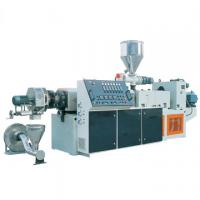 Buy cheap TSK95 PE PP Caco3 Parallel twin screw extruder hot cutting pelletizing line product