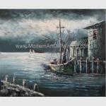 Buy cheap Contemporary Fishing Boat Painting At Sea  / Sailing Ship Paintings Prints from wholesalers