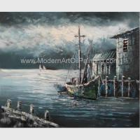 Buy cheap Contemporary Fishing Boat Painting At Sea / Sailing Ship Paintings Prints product