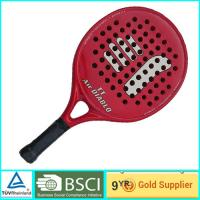 Buy cheap Red Adult & Kids Beach Paddle Racket Carbon professional paddle ball rackets product