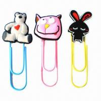 Buy cheap Nice cartoon image bookmarks, made of eco-friendly PVC product