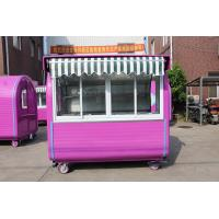 Buy cheap Sliding Glass Windows Mobile Food Kiosk Pink Hot Dog Vending Carts from wholesalers