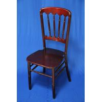 Buy cheap Burgundy / Dark Black Wooden Chate Chair , Modern UV Resistant Stackable Chair For Banquet / Hotel from wholesalers